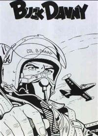 buck danny [dessin pour le dos de couverture de l'album